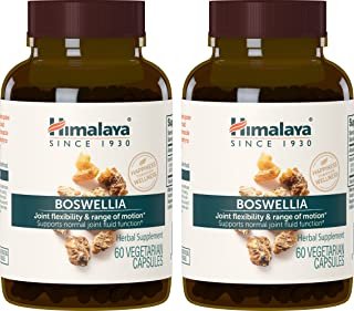 Himalaya Boswellia for Joint Flexibility and Joint Mobility 250 mg, 60 Capsules, (2 Pack)