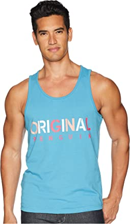 Original Penguin Logo Printed Tank Top