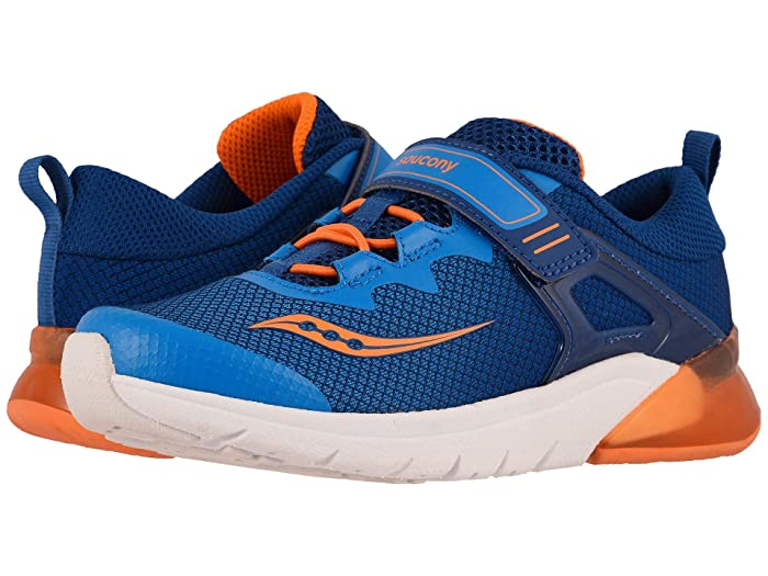Saucony Kids  Flash Glow A/C (Little Kid) (Blue/Orange) Boys Shoes