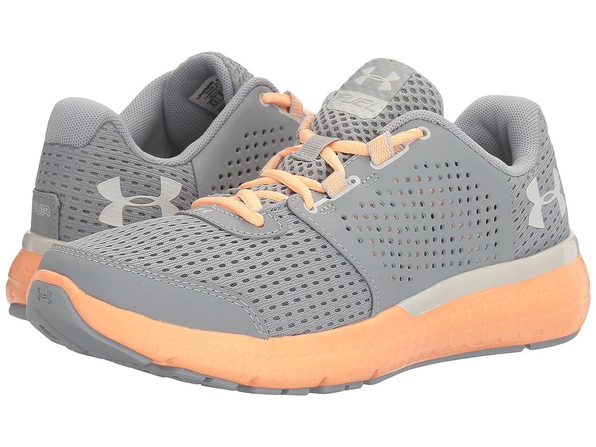 告白一瞬気になる(アンダーアーマー) UNDER ARMOUR レディースランニングシューズ?スニーカー?靴 UA Micro G Fuel RN Overcast Gray/Playful Peach/Glacier Gray 10.5 (27.5cm) B - Medium