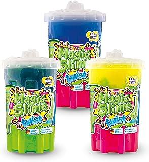CRAZE Magic Slime Twist 3-częściowy zestaw wielokolorowa magiczna pianka dla dzieci Glibber Clay 85 ml, 30981