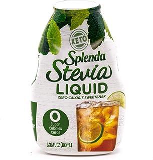 SPLENDA Stevia liquid Zero Calorie Sweetener Drops, 3.38 Fl. Oz. Bottle, Stevia, 3.38 Fl Oz