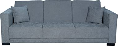 Cloud 9 Furniture Tesla Collection 3 Seater Sofa Cum Bed in Grey Fabric