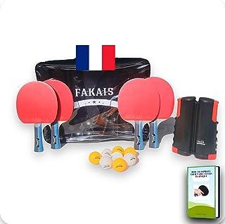 comprar comparacion FAKAIS Palas de Ping-Pong profesional, 4 Raquetas - 8 Pelotas, Bolas - Red de Tenis de Mesa Portatil - Bolsa de Almacenami...