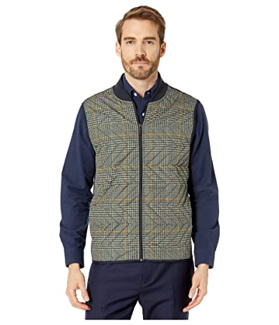 Perry Ellis Quilted Nylon Vest (Dark Sapphire) Men