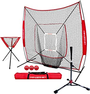 Sponsored Ad - PowerNet 7x7 DLX Practice Net + Deluxe Tee + Ball Caddy + 3 Pack Weighted Ball + Strike Zone Bundle | Baseb...