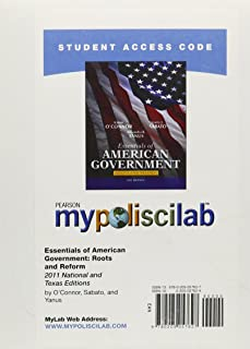 MyLab Political Science without Pearson eText -- Standalone Access Card -- for Essentials of American & Texas Government: ...