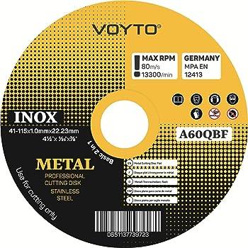 Dapetz /® 10 X Ultra Thin Metal Cutting Discs 115mm 4.5 Angle Grinder Slitting