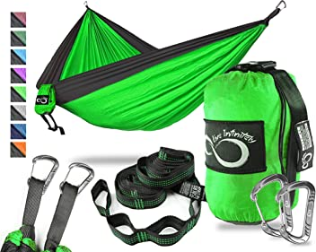 Live Infinitely Hammock With Tree Straps $5.00 2-day Shipping Green And Grey