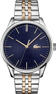 ساعة للرجال من لاكوست بمينا زرقاء وسوار بلونين من ستانلس ستيل - 2011048