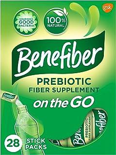 Benefiber Daily Fiber Supplement, Powder Stick Packs for Digestive Health, 0.14 Ounce (Pack of 28)