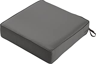 Classic Accessories Montlake Seat Cushion Foam & Slip Cover, Light Charcoal, 25x25x5