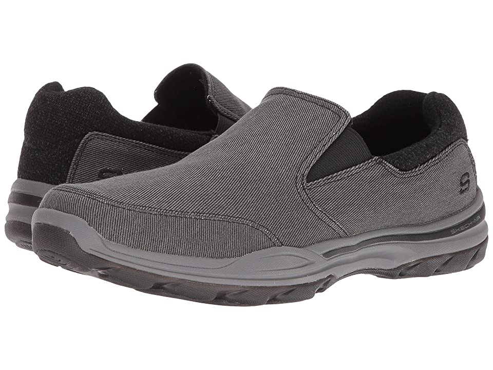 SKECHERS Classic Fit Elment Campo (Black Canvas) Men