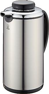 TIGER 虎牌 保温瓶 保温 保冷 台式 玻璃保温瓶桌上水壶 0.99L 业务用 PRJ-010P Tiger 银色