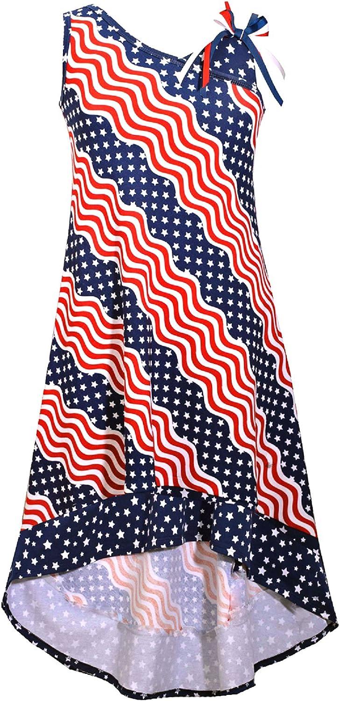 Bonnie Jean Big Girls Red White Blue Americana 4th July Dress