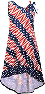 Big Girls Red White Blue Americana 4th July Dress