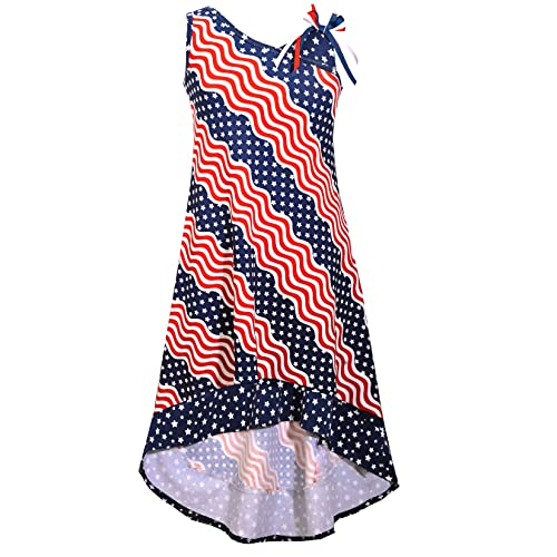 9cd780e58b3 Bonnie Jean Big Girls Red White Blue Americana 4th July Dress