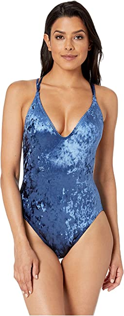 Solids Velvet Group Cross One-Piece