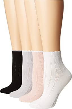 Scalloped Tipped Socks 4-Pack
