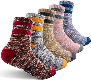 Women's Hiking Walking Socks, FEIDEER 2-Pack Outdoor Recreation Socks Wicking Cushion Crew Socks
