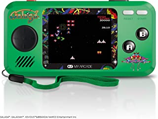 My Arcade Pocket Player Handheld Game Console: 3 Built In Games, Galaga, Galaxian, Xevious, Collectible, Full Color Display, Speaker, Volume Controls, Headphone Jack, Battery or Micro USB Powered