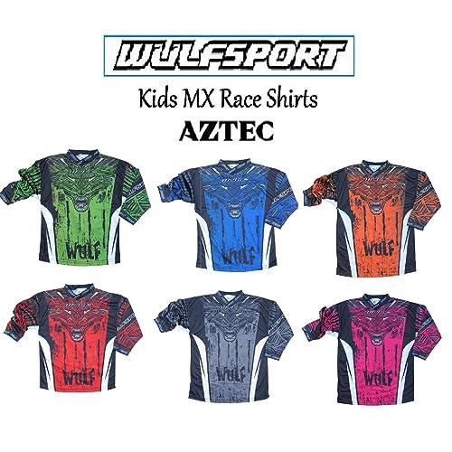 21a9d4060 WULFSPORT WULF CUB KIDS AZTEC SHIRTS NEW 2019 Motorbike Motocross Quad ATV  MTB BMX Pit Dirt