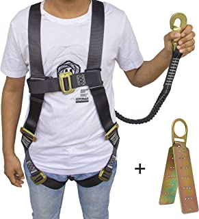 Fall Protection Harness – Protection Harness For Safety - Safety Harness For Construction - Climbing Harness - Rooftop - Tree - Ironworker Safety Harness For Protection Against Falling