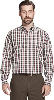 Arrow 1851 Men's Long Sleeve Plaid Hamilton Shirt Button Down Shirt
