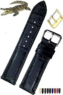 Men's Genuine Crocodiile Leather Watch Strap Band
