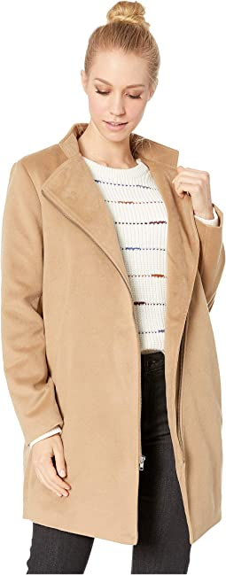 Zip To My Heart Melton Coat
