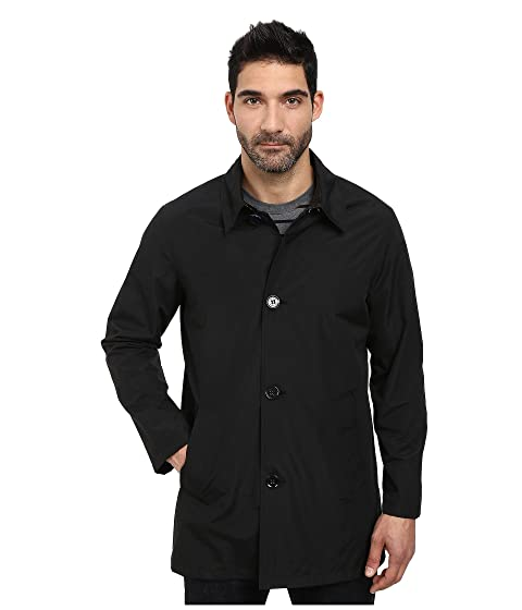 Cole Haan Mens Nylon Topper with Mesh Lining Black - Coats & Outerwear