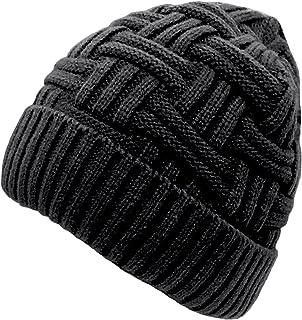 be1b94a98154d Loritta Mens Winter Warm Knitting Hats Wool Baggy Slouchy Beanie Hat Skull  Cap