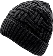 Loritta 1-2 Pack Winter Hat Warm Knitted Wool Thick Baggy Slouchy Beanie Skull Cap for Men Women Gifts