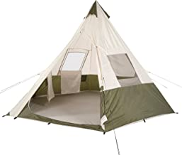 Unique,Durable,Spacious With Proper Ventilation Ozark Trail 7 Person Teepee Tent,Includes Durable Sewn-in PE Floor,3 Convenient Pockets for Storing Small Items,Great For Camping and Outdoor Activities