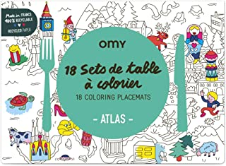OMY Place Mat, Paper, Yellow, 40 x 30 cm, 6 Pieces