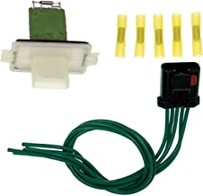 APDTY 084537 Blower Motor Resistor BMR Kit w/Wiring Harness Pigtail Connector
