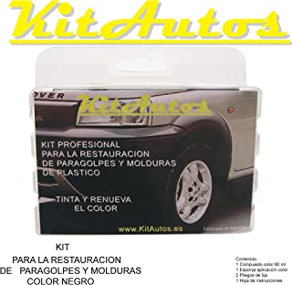 Kit RESTAURADOR PARAGOLPES Y MOLDURAS DE PLASTICO Color Negro