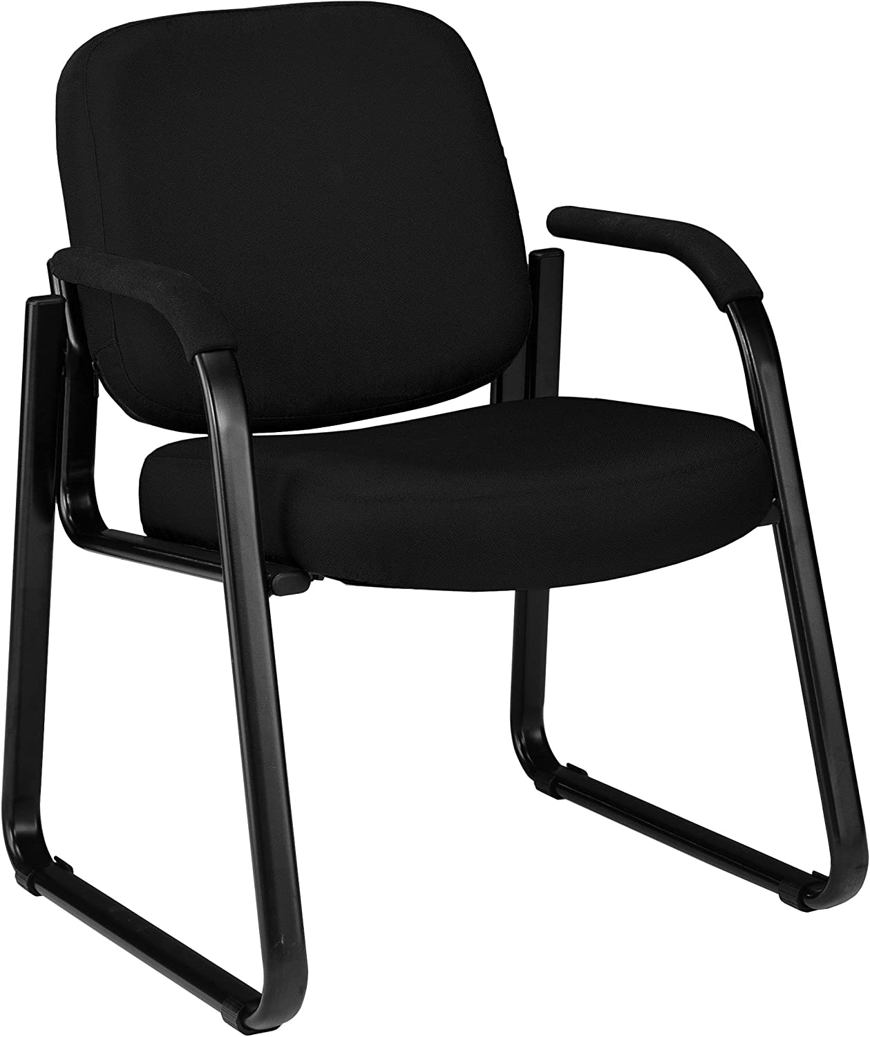 OFM 403-805 Reception Chair with Arms - Fabric Guest Chair, Black