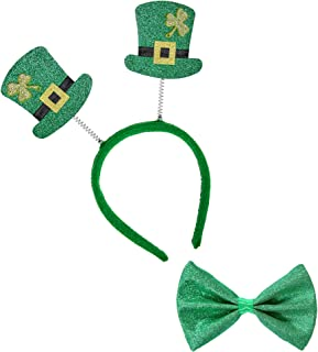 Green Felt Top//Chapeau Melon avec trèfles St Patricks Jour Irlande Irish 6//12//18//24
