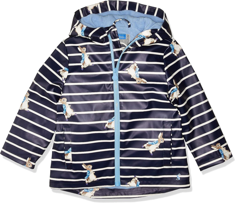Navy Stripe Peter Rabbit Joules Skipper Printed Rubber Coat