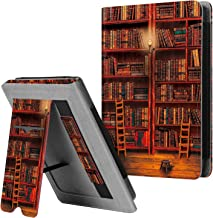 """Fintie Stand Case for Kobo Clara HD 6"""" eReader - Premium PU Leather Protective Sleeve Cover with Card Slot, Hand Strap and Auto Sleep/Wake Function, Library"""
