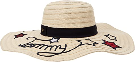 Tommy Hilfiger Tommy Stars Straw Hat Sombrero, Beige (Natural 203), Talla única (Talla del Fabricante: OS) para Mujer