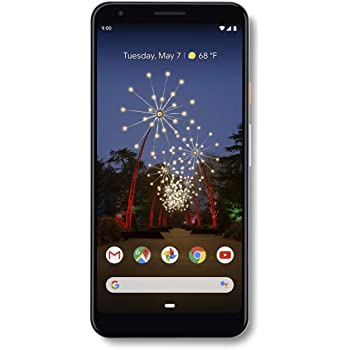 Google - Pixel 3a XL with 64GB Memory Cell Phone (Unlocked) - Clearly White (Renewed)