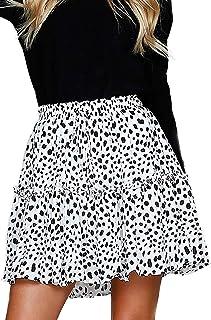 Alelly Women's Summer Cute High Waist Ruffle Skirt Floral...