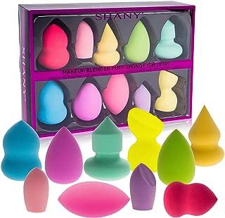 SHANY Makeup Premium Beauty Sponge Blender Puff Set- Latex- & Vegan, Multipurpose Shapes & Colors- Set of 10