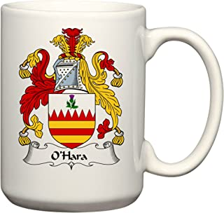 O'Hara Coat of Arms/O'Hara Family Crest 15 Oz Ceramic Coffee/Cocoa Mug by Carpe Diem Designs, Made in the U.S.A.
