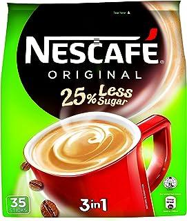 Nescafe 25% Less Sugar 3-In-1 Instant Coffee, 35x15g