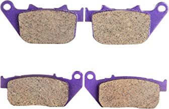 ECCPP FA381 Brake Pads Front and Rear Carbon Fiber Replacement Brake Pads Kits Fit for Harley-Davidson Sportster 1200 Custom XL1200C 2004-2012