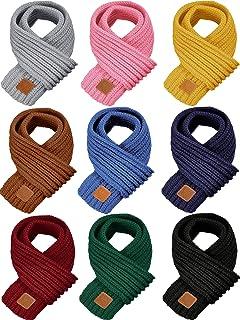 شال گردن گرم بچه گانه 9 تکه روسری بافتنی کودک نوپا روسری دخترانه و پسرانه