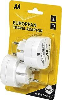 AA Paar UK-EU 13 Amp Plug Adapters - Essentiële Reisaccessoire voor Europa
